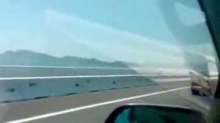 Superman Fly Over Penang Second Bridge