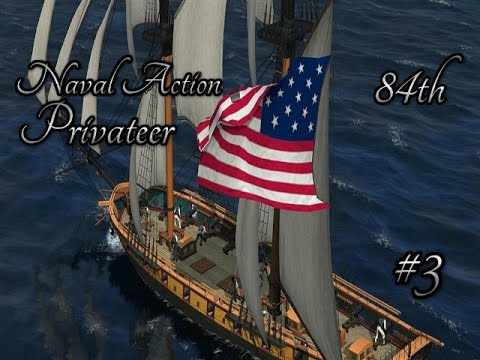 84th Naval Action   Privateer   Battle Against A British Constitution Fleet #3