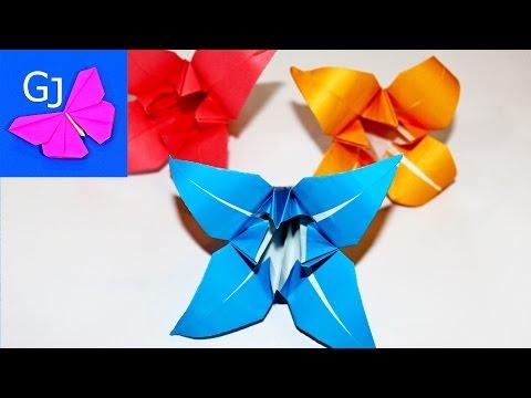 ОРИГАМИ ЛИЛИЯ ❤️ Цветы из бумаги