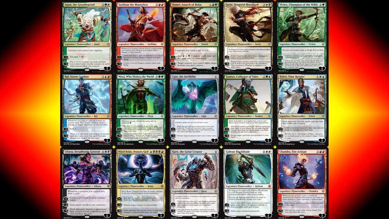 War of the Spark Prerelease Guide - All 36 Planeswalkers