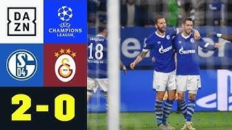 Mark Uth und Guido Burgstaller treffen: Schalke 04 – Galatasaray 2:0   Champions League   Highlights