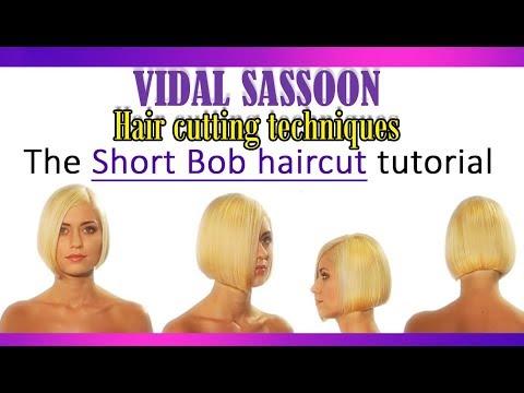 Vidal Sasoon hair cutting techniques - The short bob haircut tutorial