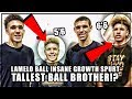 LaMelo Balls INSANE Growth Spurt! 5'10 To 6'6 In 2 Years!? | Tallest BALL BROTHER At 16!?