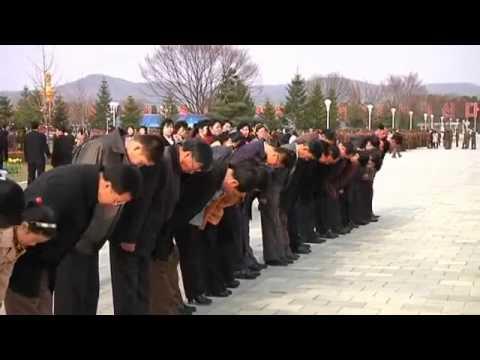 North Koreans visiting Kim Il Sungs Mausoleum on his 101st Birthdayyoutubeoriginal
