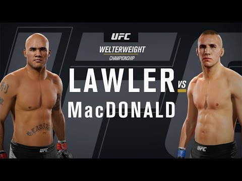 EA SPORTS UFC 2 Gameplay - Robbie Lawler vs Rory MacDonald Title Fight