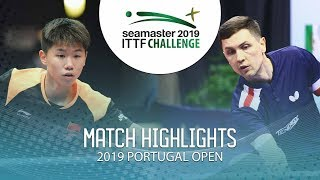 Liu Yebo vs Alexey Liventsov   2019 ITTF Challenge Plus Portugal Open Highlights ( R64 )