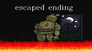Springtrap is not DEAD!!.. SUPER FNaF ★ Escaped Ending ★