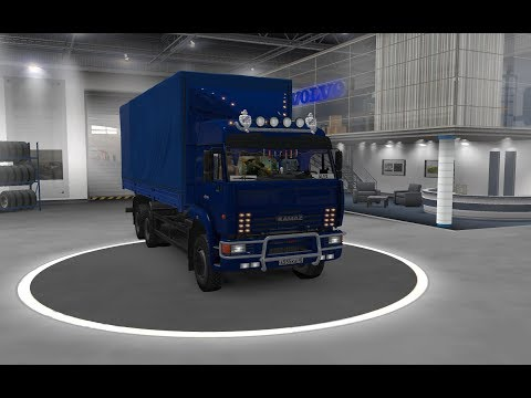 [ETS2 V1.34]Euro Truck Simulator 2 Kamaz 54-64-65 With Body + Dirt + Skins + Trailer ETS2 1.34.x