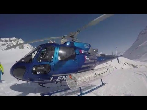 Heliski day in courmayeur