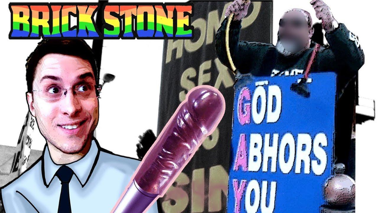 Homophobic Street Preachers Ambushed by Brick Stone @ 2013 Gay Pride Parade