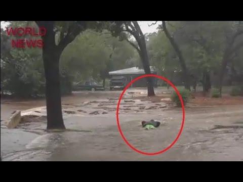 Flood disaster in Austin Texas