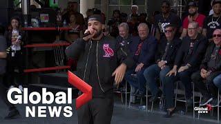 Raptors victory parade: Drake tells crowd 'you deserve' championship