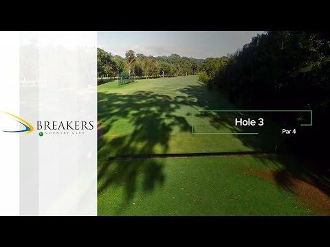 Breakers Country Club | Hole 3 | Fairway Flyovers Australia