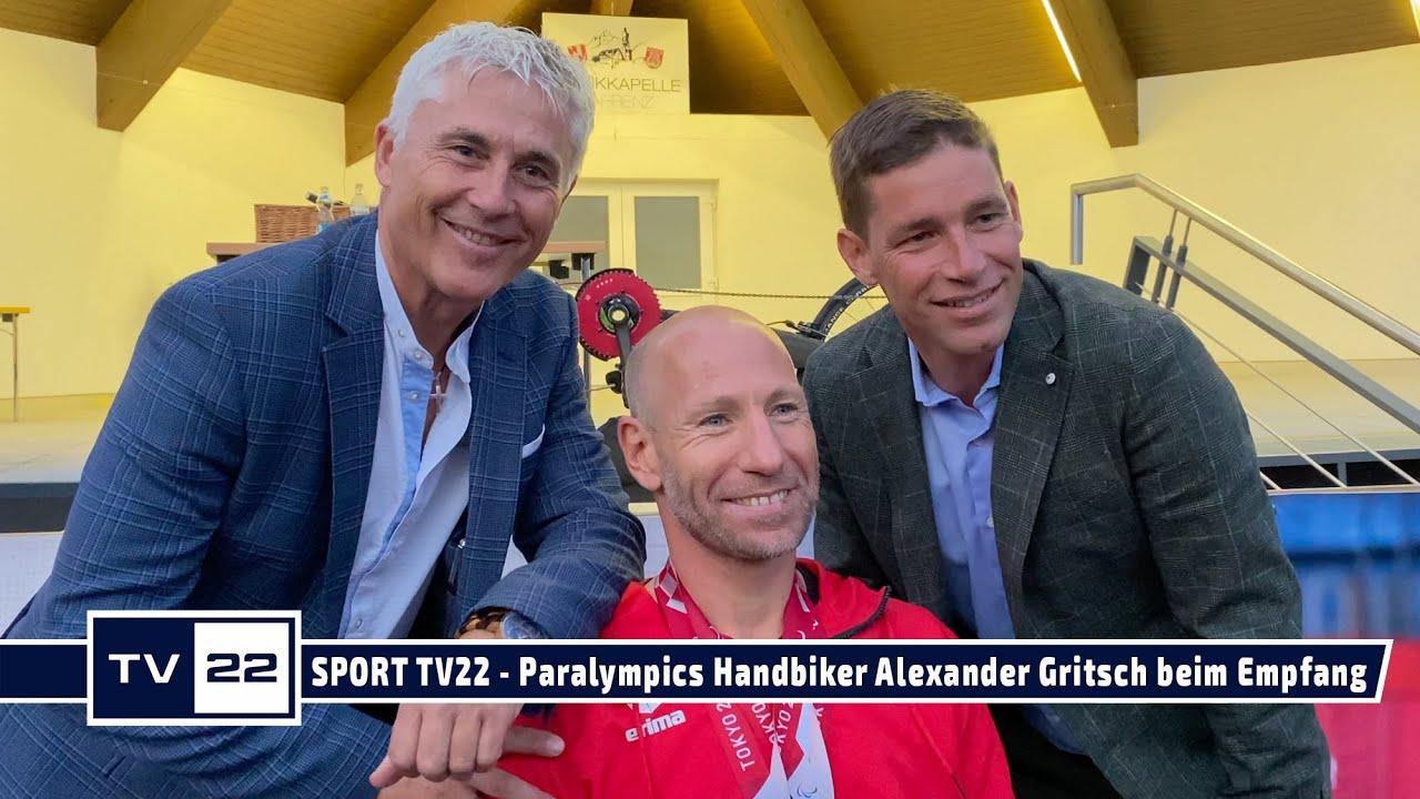 SPORT TV22: Empfang von Doppel-Bronze Handbiker Alexander Gritsch im Heimatort Tarrenz in Tirol