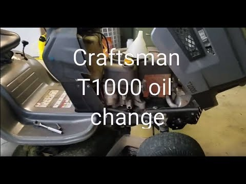 How Much Is An Oil Change >> Craftsman T1000 riding mower oil change - YouTube