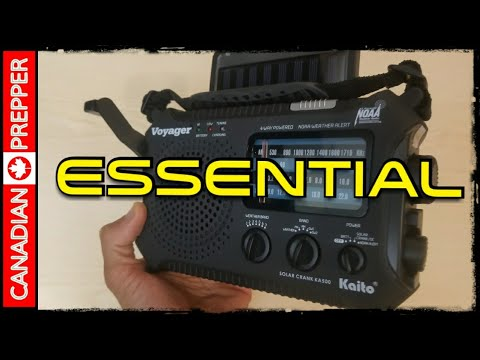 A MUST HAVE Prepping/ Survival Item : Solar/Crank Shortwave Radio Kaito 500A