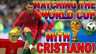 WATCHING THE WORLD CUP WITH CRISTIANO RONALDO!!! (Roblox)