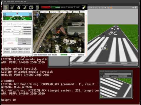 Gazebo ArduCopter SITL Iris Demo with Mavproxy by John Hsu on YouTube