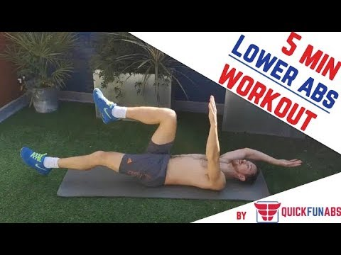 Lower Abs Workout:  Flat Stomach in 5 Mins