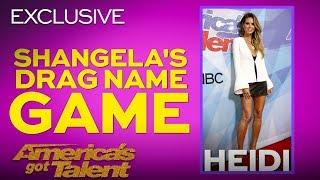 Heidi Klum Receives A German Drag Name From Shangela - America's Got Talent 2018