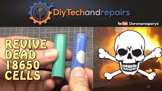 Bump charge/revive your dead or low voltage 18650 cells