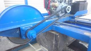 Home made saw mill with vertical and horizontal cutting