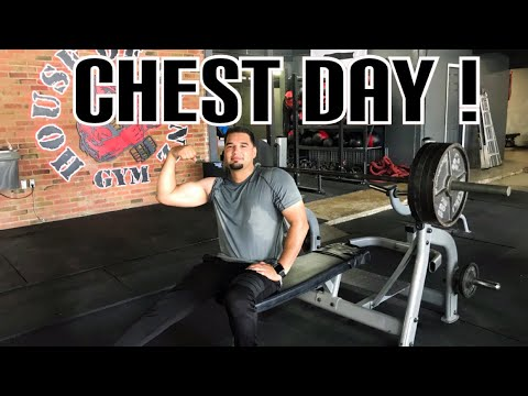 CHEST WORKOUT! Gym VLOG | HOUSE OF GAINZ GYM | Houston Tx