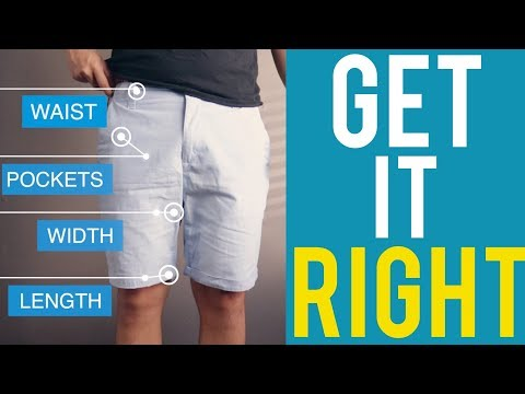 How Men's Shorts Should Fit - Fit Guide (How To Wear Shorts)