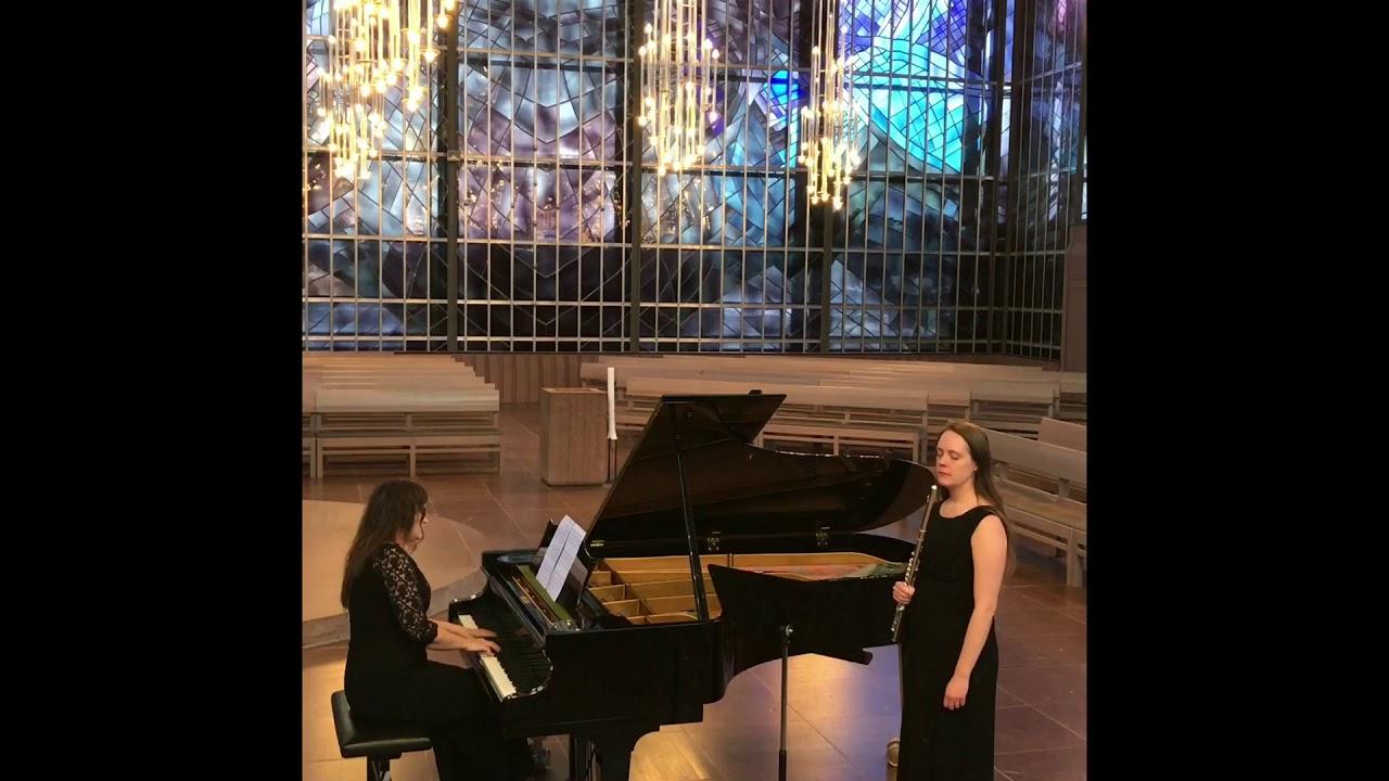Marie Carlsson piano, Belinda Allgulander flöjt
