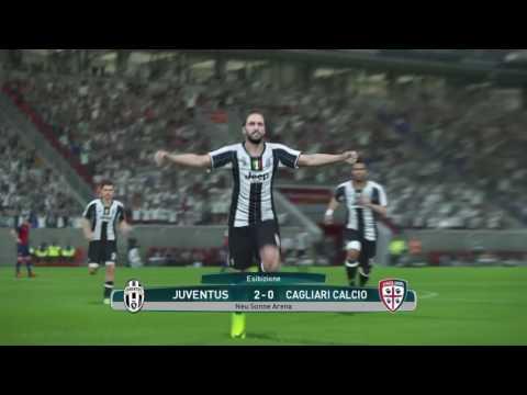 Ricostruzione Juventus - Cagliari 4 a 0 # PES 2017 by Bruno Longhi!