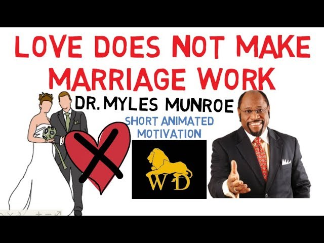 Love DOES NOT Make Marriage Work by Dr Myles Munroe Animated