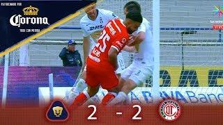 Resumen: Pumas 2 - 2 Toluca | Clausura 2019 - J16 | Presentado por Corona