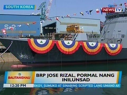 BT: BRP Jose Rizal, pormal nang inilunsad