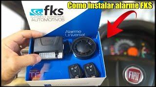 Instalação do alarme  automotivo FKS