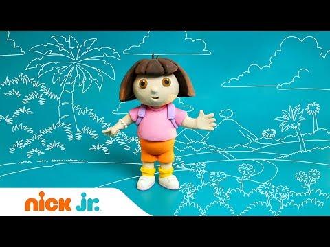 Лепим из пластилина с Nick Jr | Даша-путешественница | Nick Jr. Россия