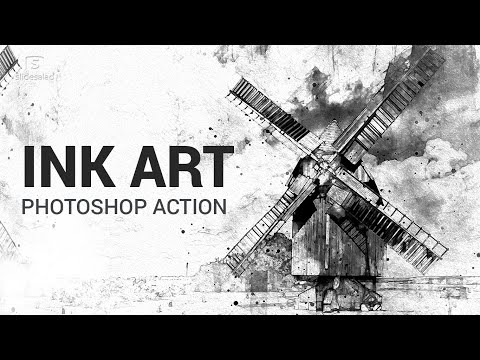 Ink Art Photoshop Action Tutorial  – Ink Painting Effects