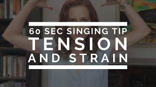 60 Second Singing Tip: Tension \u0026 Strain | Arden Kaywin Vocal Studio