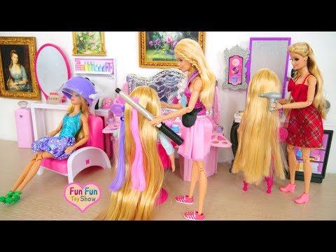 New Pink Beauty Salon for Barbie dolls Friseursalon für Barbie Penata rambut salon untuk Boneka