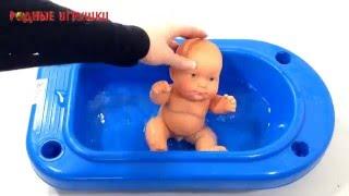 Кукла пупс в синей ванночке Артикул С 724
