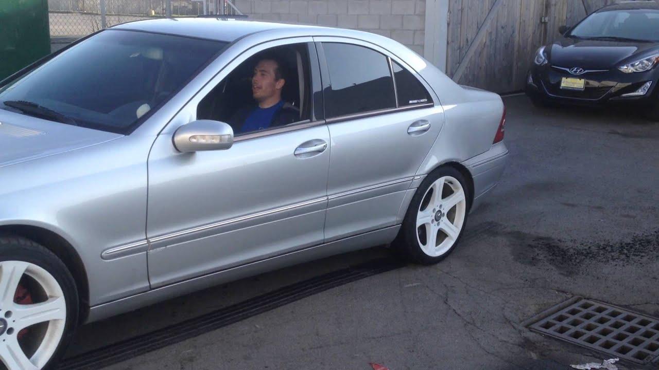 2001 Mercedes C320 burnout - YouTube