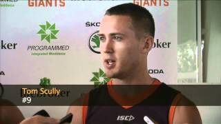 Luke Power and Tom Scully speak to the press