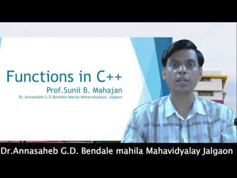 BCA: Functions in C++ by Sunil...