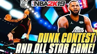 NBA DUNK CONTEST & ALL STAR GAME VS LEBRON, CURRY & MORE! 2K19 MyCareer Ep.10