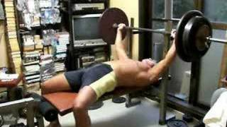 Bench press alone at home what if you failed 120kg(264lb)
