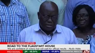 Akufo-Addo addresses Press - Election HQ on Joy News (8-12-16)