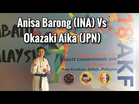 Annisa Barong Vs Okazaki Aika (JPN) - AKF Championship Junior 2019 Kota Kinabalu Sabah