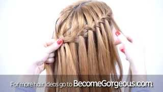 Waterfall Braid Into Mermaid Braid Tutorial