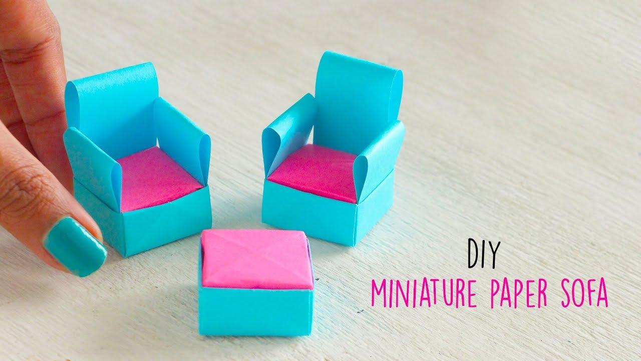 How to make a Paper Sofa | DIY Miniature Sofa