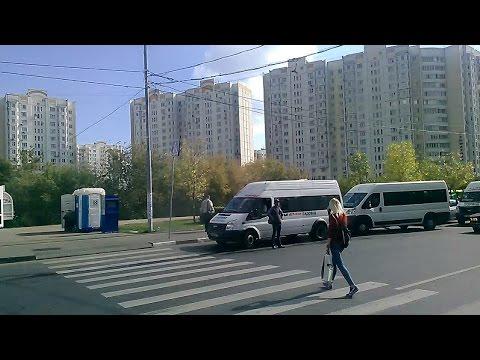 . Москва. Люблино-Рынок Садовод-МЕГА-Белая дача. Поездка в маршрутке