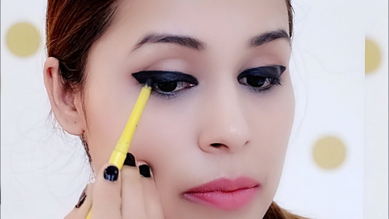 How To Apply Perfect (thick) Winged Eyeliner with Kajal ...